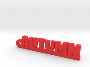 AUTUMN Keychain Lucky in Red Processed Versatile Plastic