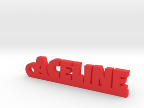 ACELINE Keychain Lucky in Red Processed Versatile Plastic