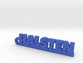 HALSTEN Keychain Lucky in Blue Processed Versatile Plastic