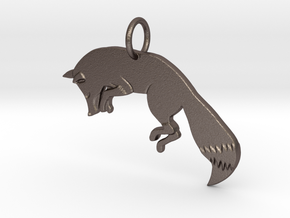 The fox in Polished Bronzed Silver Steel