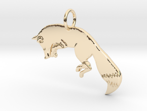 The fox in 14K Yellow Gold