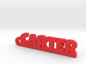 CARTER Keychain Lucky in Red Strong & Flexible Polished