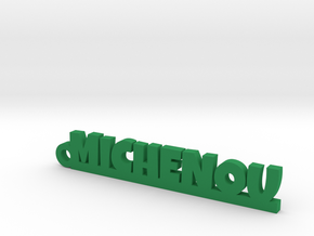 MICHENOU Keychain Lucky in Green Strong & Flexible Polished