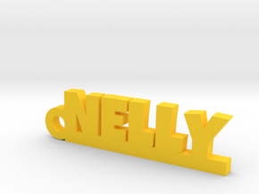 NELLY Keychain Lucky in Yellow Processed Versatile Plastic