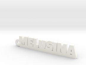 MELUSINA Keychain Lucky in White Processed Versatile Plastic