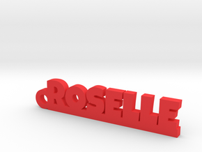 ROSELLE Keychain Lucky in Red Processed Versatile Plastic