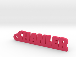 CHANLER Keychain Lucky in Pink Strong & Flexible Polished