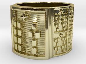 OTURAYEKUN Ring Size 14 in 18k Gold Plated Brass