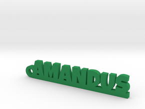 AMANDUS Keychain Lucky in Green Strong & Flexible Polished