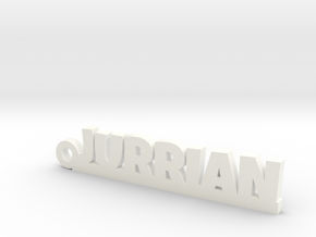 JURRIAN Keychain Lucky in White Strong & Flexible Polished