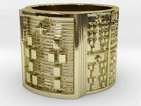 OTURASHE Ring Size 11-13 in 18k Gold Plated: 12 / 66.5