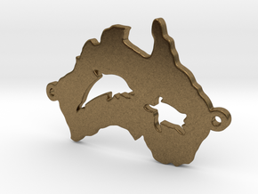 Australia charm curved in Natural Bronze
