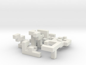 SwitchCube 6x6x6 cm in White Natural Versatile Plastic