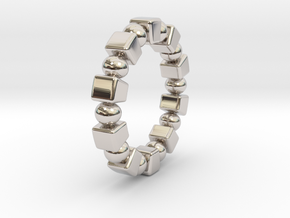 Claudette - Ring in Rhodium Plated Brass: 6 / 51.5