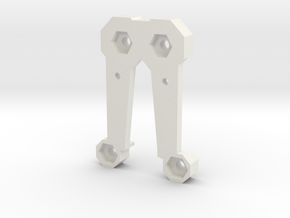 Saber Belt Clip Part 2 of 2 - Everyday Belt Carry in White Natural Versatile Plastic