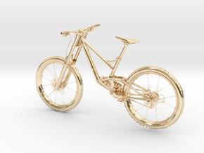 """MyTinyBikes Model """"Downhill Cross"""" in 14K Yellow Gold"""