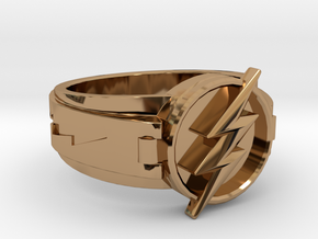 V3 Regular Flash Ring Size 16, 24.64mm in Polished Brass