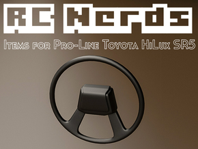 RCN010 steering wheel for Pro-Line Toyota SR5  in White Strong & Flexible