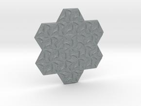 Hexagonal Spirals - Small Miniature in Polished Metallic Plastic