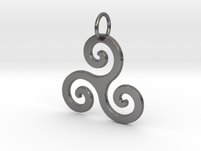 Triskelion in Polished Nickel Steel