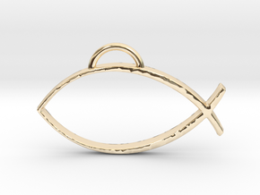 Ichthys  in 14k Gold Plated Brass