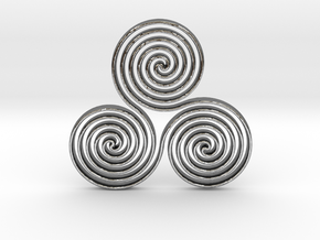 Triskele  in Polished Silver