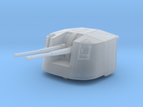 """1/350 4.7"""" MKXII CPXIX Twin Mount x4 Sights Closed in Smoothest Fine Detail Plastic"""