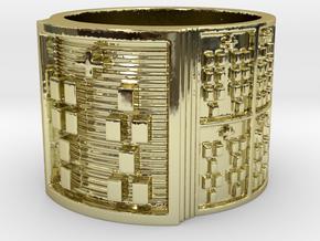 OSHENIWO Ring Size 14 in 18k Gold Plated Brass