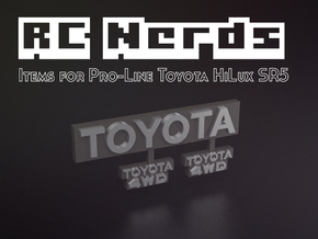 RCN014 logos for Pro-Line Toyota SR5  in Black Hi-Def Acrylate