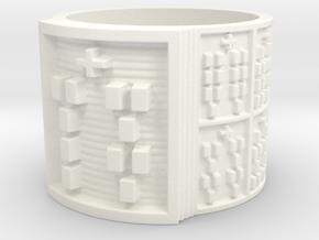 OFUNSA Ring Size 13.5 in White Processed Versatile Plastic