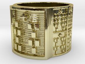 OFUNSHE Ring Size 14 in 18k Gold Plated Brass