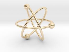 Atom in 14K Yellow Gold
