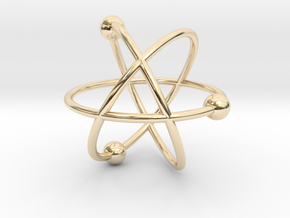 Atom in 14k Gold Plated Brass