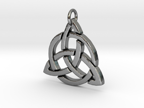 Triquetra in Polished Silver