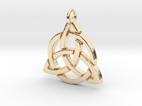Triquetra in 14k Gold Plated Brass