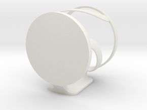 Wall mountable cup holder  in White Strong & Flexible