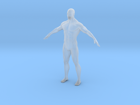 Custom_Size_Male 65mm tall in Smooth Fine Detail Plastic