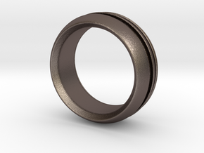 Modern+inset in Polished Bronzed Silver Steel: 6 / 51.5