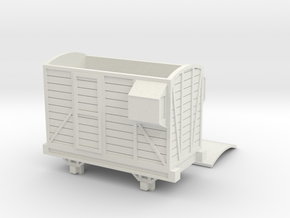 OO9 Narrow Gauge Brake Van Talyllyn / SR in White Natural Versatile Plastic