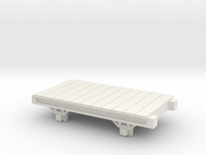 OO9 Narrow Gauge Conflat / Flatbed - Talyllyn / SR in White Natural Versatile Plastic