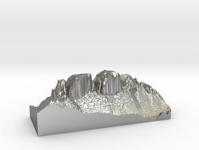 "MyTinyDolomites ""Drei Zinnen"" (Dolomites  in Natural Silver"