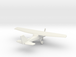 Cessna 172 - 1:200scale in White Natural Versatile Plastic