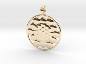 SPHERES OF LIFE in 14k Gold Plated Brass