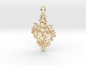 Elegant Vintage Classy Pendant Charm in 14K Yellow Gold