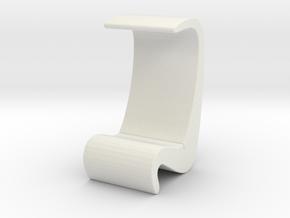 Miniature Amoeba Highback Chair - Verner Panton in White Natural Versatile Plastic: 1:12