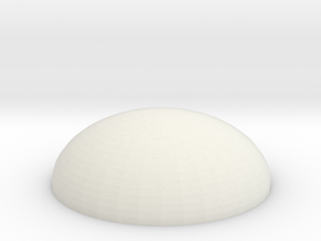 Dome Base 25mm in White Natural Versatile Plastic
