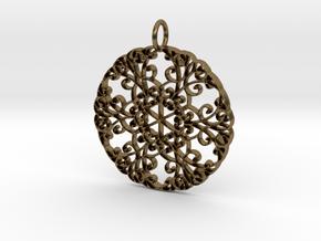 Elegant Flourish Beautiful Pendant Charm in Natural Bronze
