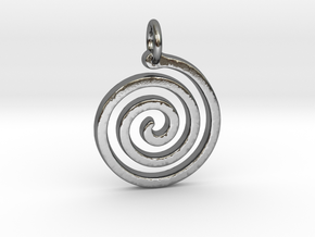 Spiral Simple in Polished Silver