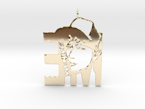 Eminem Pendant - 3D Jewelery - Eminem Fan Pendant in 14k Gold Plated Brass