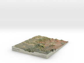 Sedona Arizona Map: 8.5x11 in Glossy Full Color Sandstone